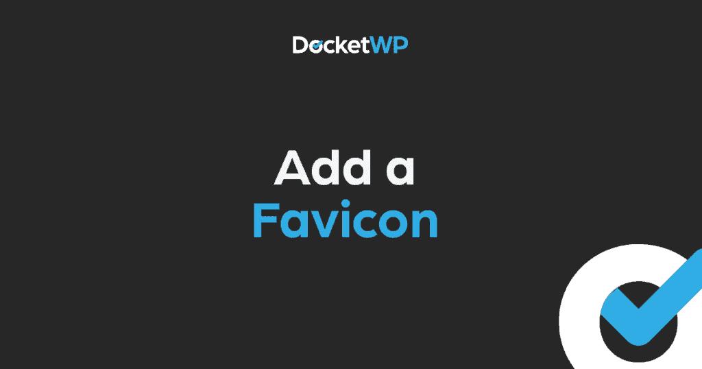 Add a Favicon featured image 1