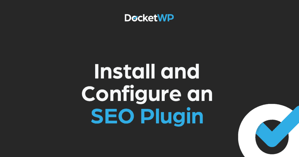 Install and Configure SEO Plugin 1