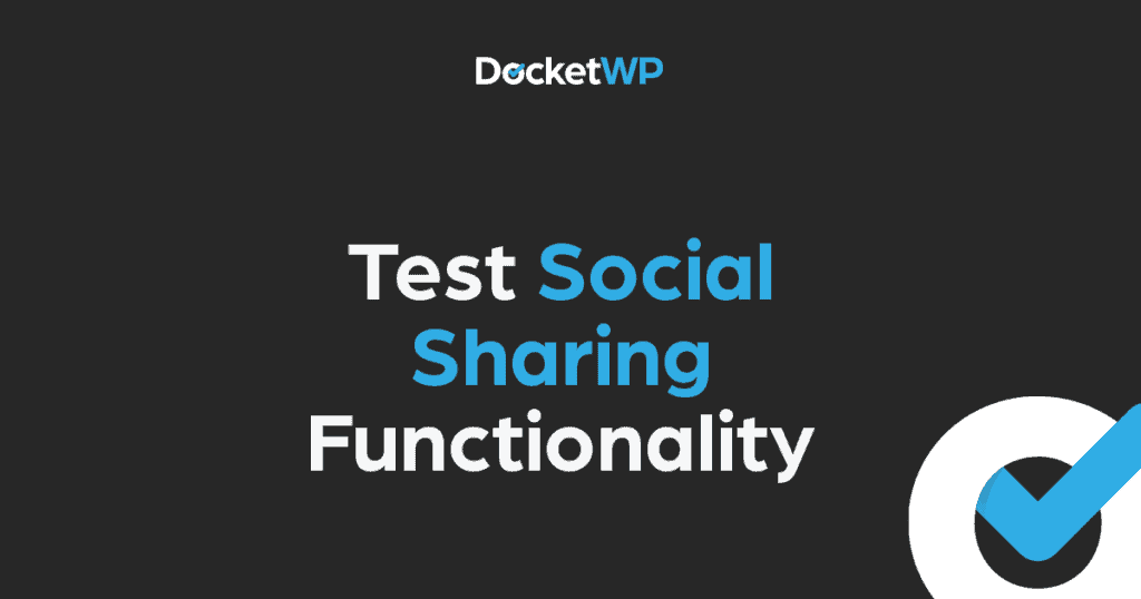 Test Social Sharing Functionality Featured Image 1