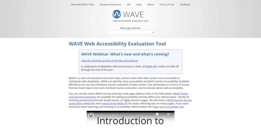 Wave Accessibility Tool