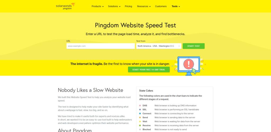 Pingdom Testing Tool