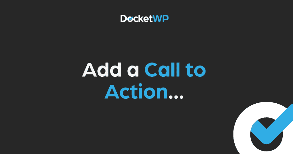 Add a Call to Action