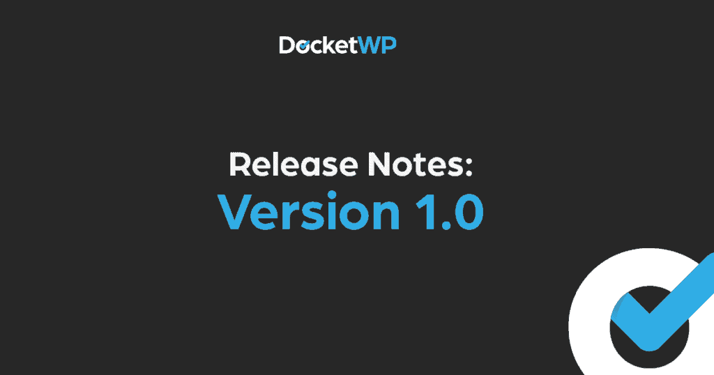 Version 1 release notes